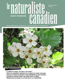 Le Naturaliste Canadien couverture