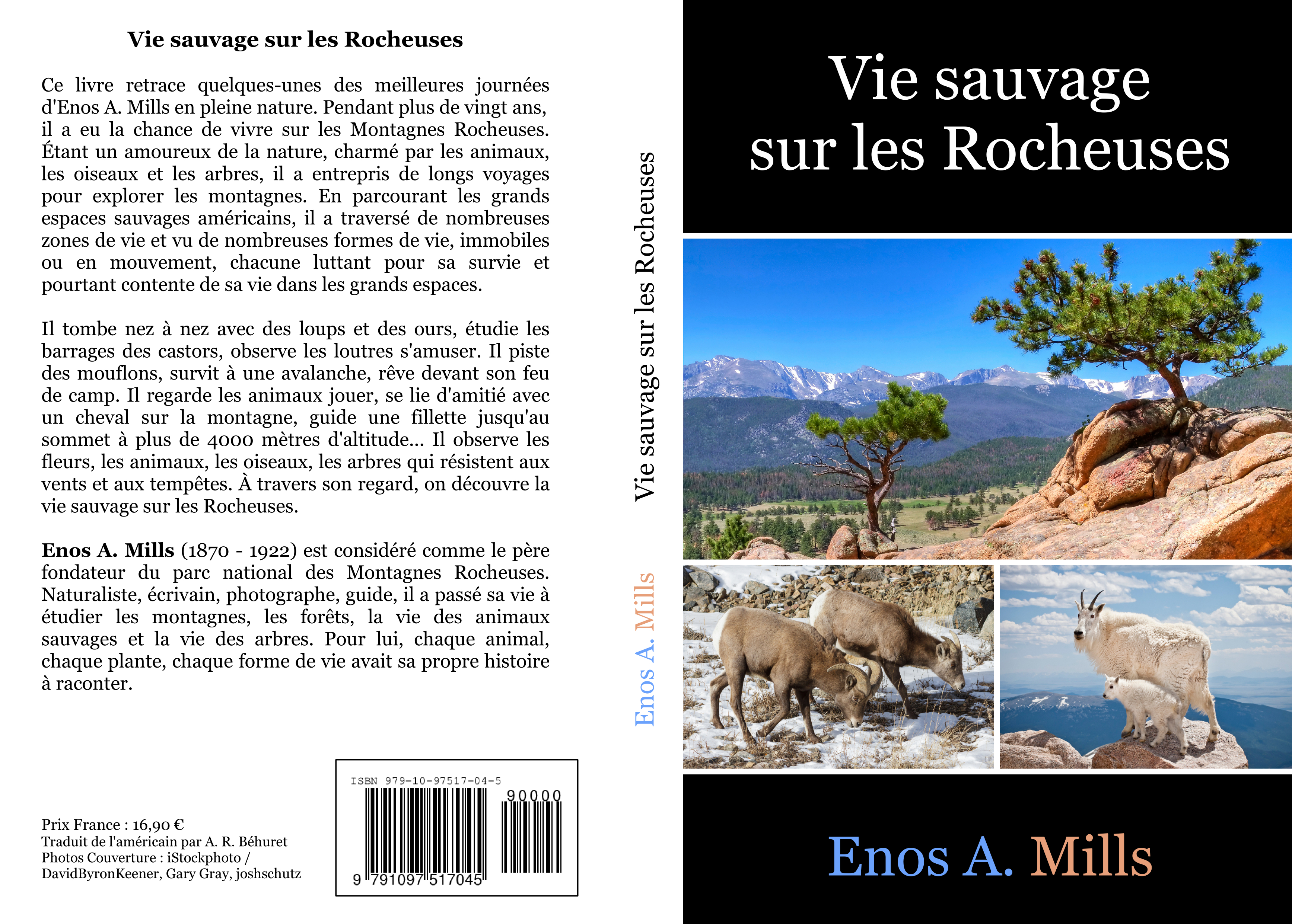 Book cover for Vie sauvage sur les Rocheuses